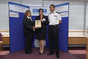 Wendy Douglas being awarded with Silver Award